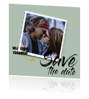 .Hippe save the date kaart met foto