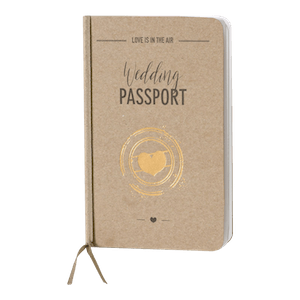 Trendy trouwkaart als wedding passport I Buromac 108044